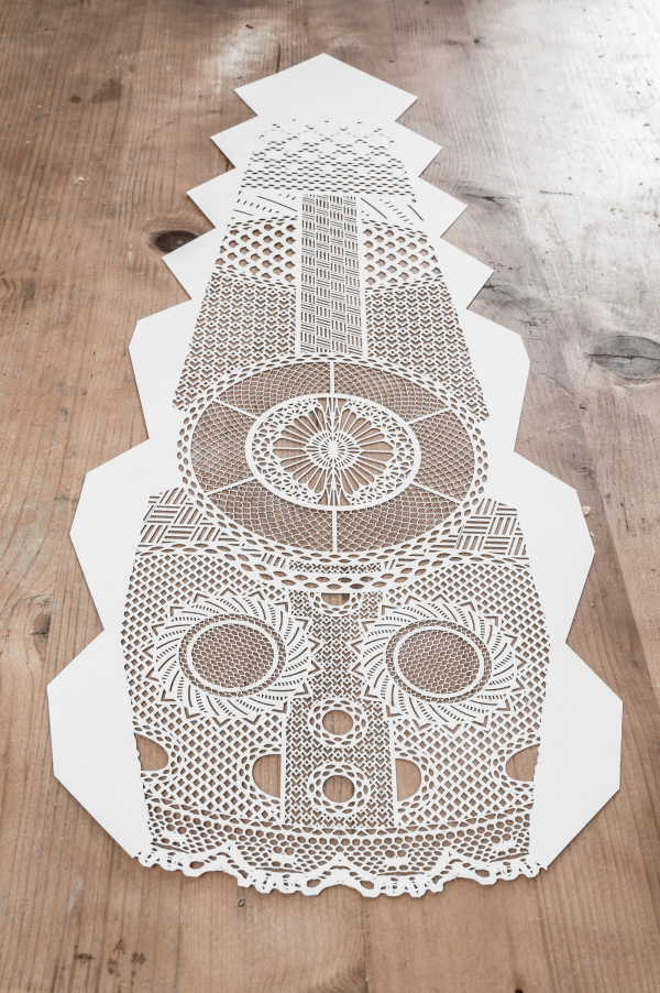 Viking Mask laser cutted part